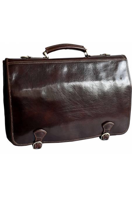 Geanta laptop din piele naturala vachetta, maro, gentidebarbati.ro, S122