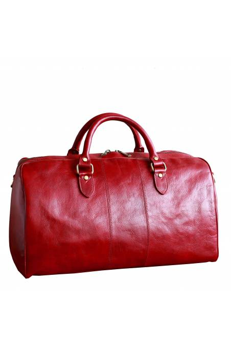 Geanta voiaj din piele naturala vachetta, geanta avion, rosie, gentidebarbati.ro, GV106