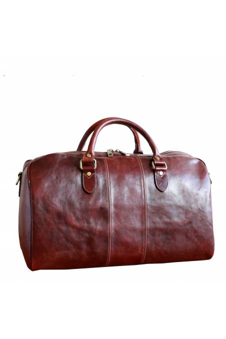 Geanta voiaj din piele naturala vachetta, geanta avion, coniac, gentidebarbati.ro, GV106