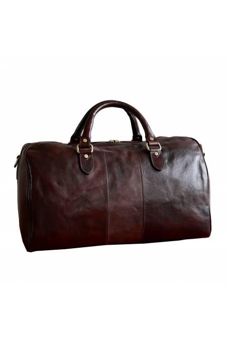 Geanta voiaj din piele naturala vachetta, geanta avion, maro, gentidebarbati.ro, GV106