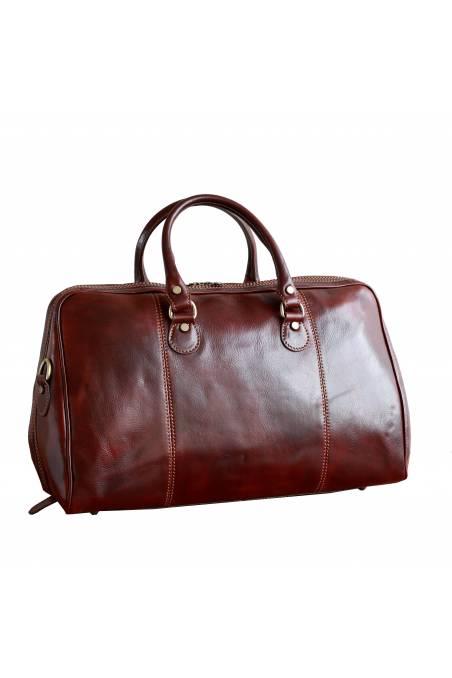 Geanta voiaj din piele naturala vachetta, coniac, gentidebarbati.ro, bagaj de mana avion, GV108