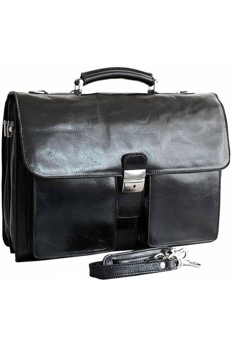 Geanta de barbati din piele naturala vacheta, dilomat, geanta office, neagra, gentidebarbati.ro, S134