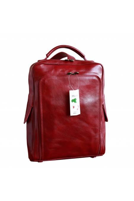 Rucsac din piele naturala,portcomputer, rosu, gentidebarbati.ro, R107