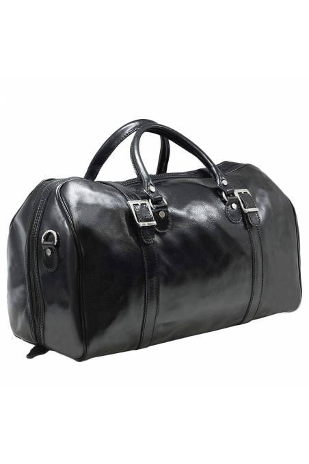 Geanta voiaj din piele naturala, bagaj de mana avion, neagra, gentidebarbati.ro, GV112