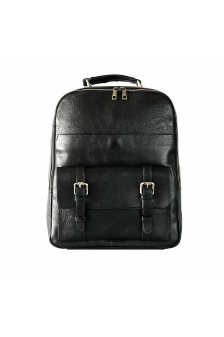 Rucsac dama pentru laptop din piele naturala, negru, util land fashion, DR126